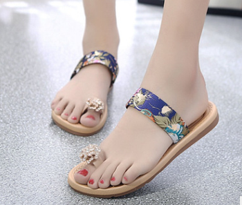Flat shoes summer casual lady fashion woman slipper new fancy sandals