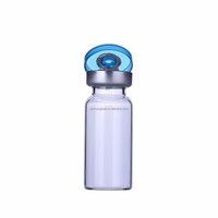 Clear thin glass bottle vial as cosmetic 10ml glass ampoule hot wholesale