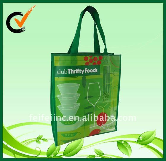 Colorful photo printing nonwoven shopping bag glossy laminated bag