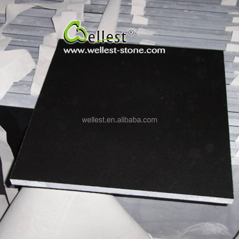 China Factory Customized G511 Sesame Black Granite Floor Tile 600x600 for Flooring