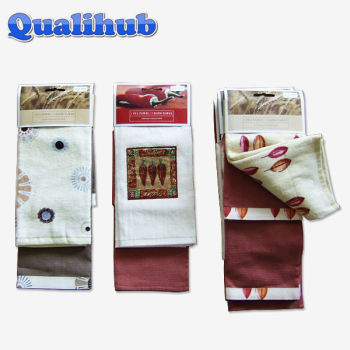 cotton velour printed towel set