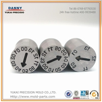 Superior mold components date insert for different size, mold date code inserts, moulding date inserts