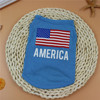 Hot Selling High Quality Dog Spring Clothes Polyester With American Flag Printing For Pet Dog