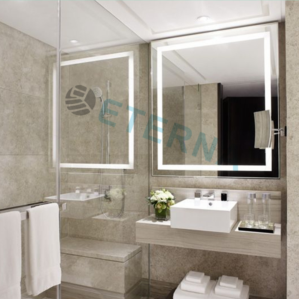 Smart Bathroom eterna light up led clock smart bathroom makeup wall mirror - buy