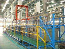 Acid copper electroplating line plant plating tank bath