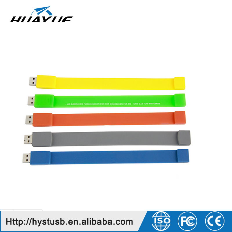 2GB 4GB 8GB 16GB USB 2.0/3.0 Wristband Silicone Bracelet USB Flash Stick