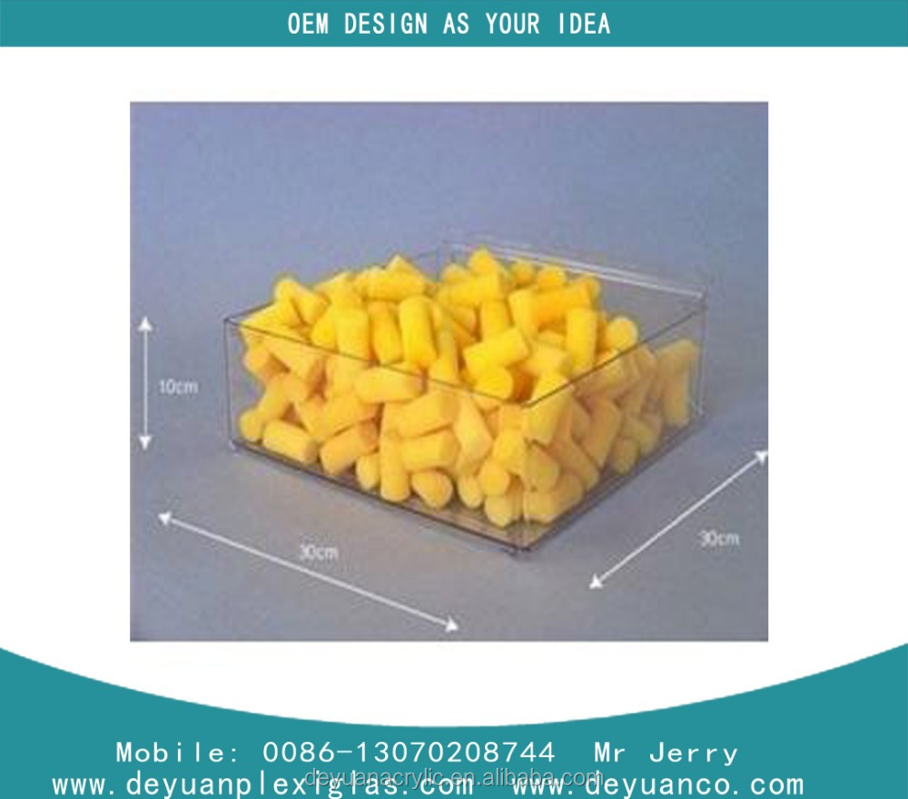 10 years factory mini acrylic candy box ,mineral water cardboard display
