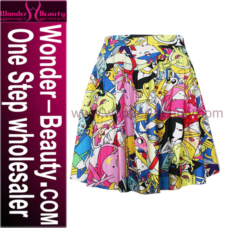 2016 Fashion Sexy School Girl artistic skirt colorful dress WT3852