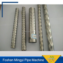 Custom-made Portable Manual Stainless Steel Pipe Threading/Twisting/Rib Machine