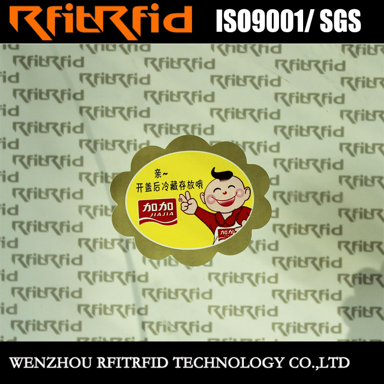 Free sample customized logo self disposable food sticker label daily necessities