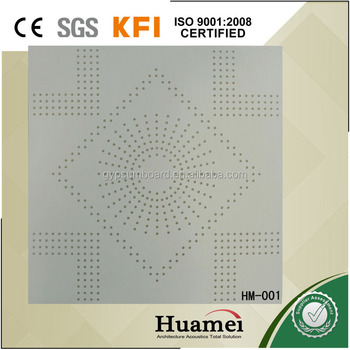 CE certificate acoustic drop ceiling for home ktv or bar or meeting room