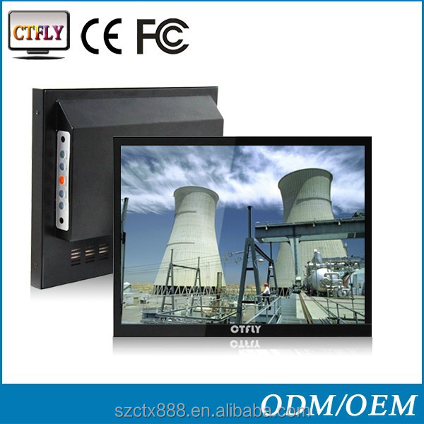 "12"" hot sale industrial grade panel pc lcd monitor"