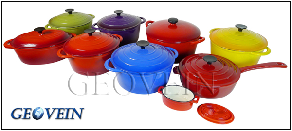 High quality enamel Cast Iron Casseroles Type cookware