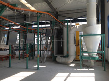 Metal wires powder coating line with spraying pretreatment
