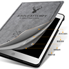 Material Saf CaseHot pressing Leather Shell for ipad mini 123
