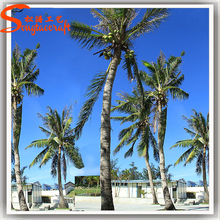 wholesale artificial coconut tree climbing device and plastic coconut palm tree leaves