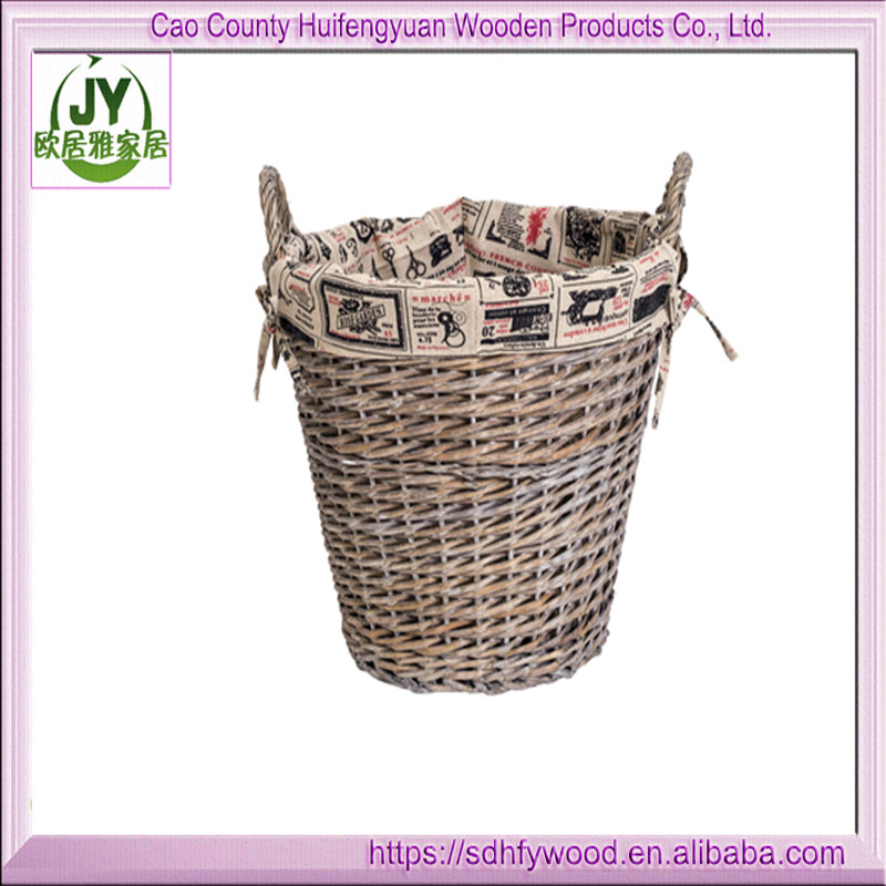 Hot sell wicker basket clothes basket wicker furniture