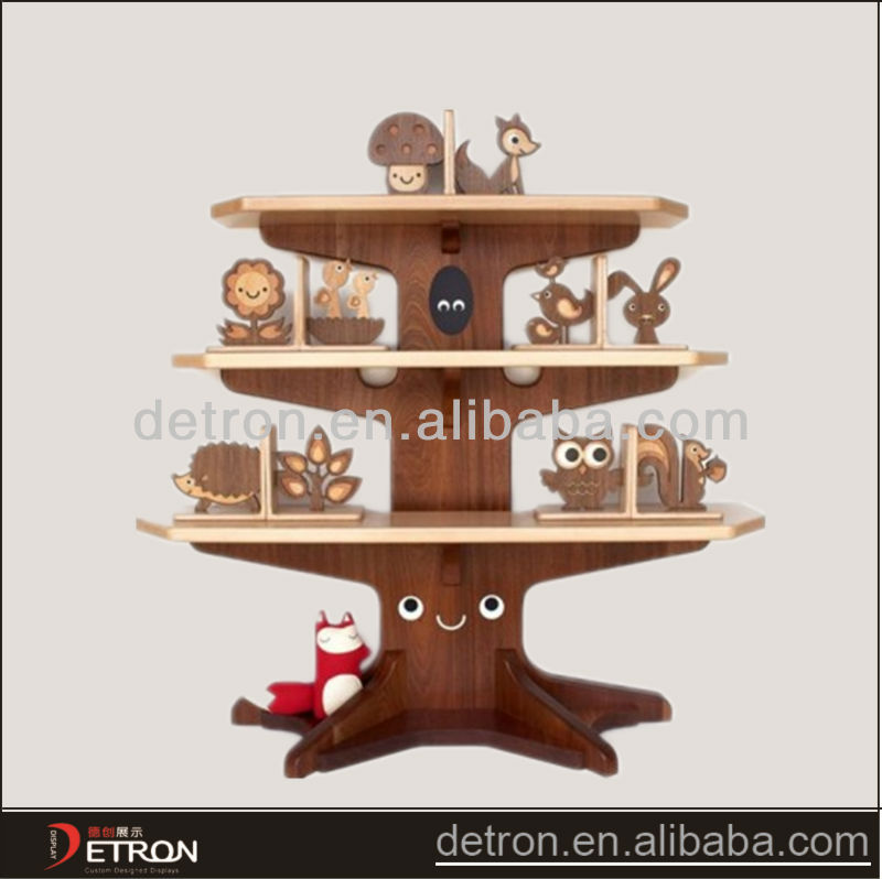 Special design diy wooden display rack
