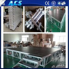 ACS Plywood Aluminum Dance Stage/Different Color Adjustable Height Stage/ Adjustable Concert Stage With Stairs