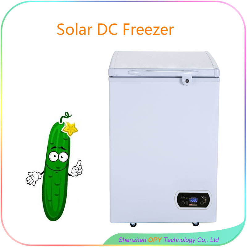 100 liter small compressor refrigerator with solar freezer