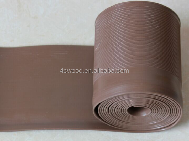 cheap 100mm decorative floor accessory soft PVC wall cover base in construction