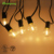 For Fairy Garden Home Wedding 18.3ft 5.5m decoration G40 bulb outdoor Christmas LED Holiday string Patio light