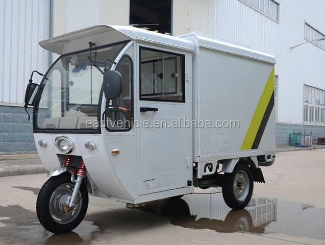 with electrophoretic paint closed cabin cargo box Electric Driving Type electric tricycle tricycle Triciclo