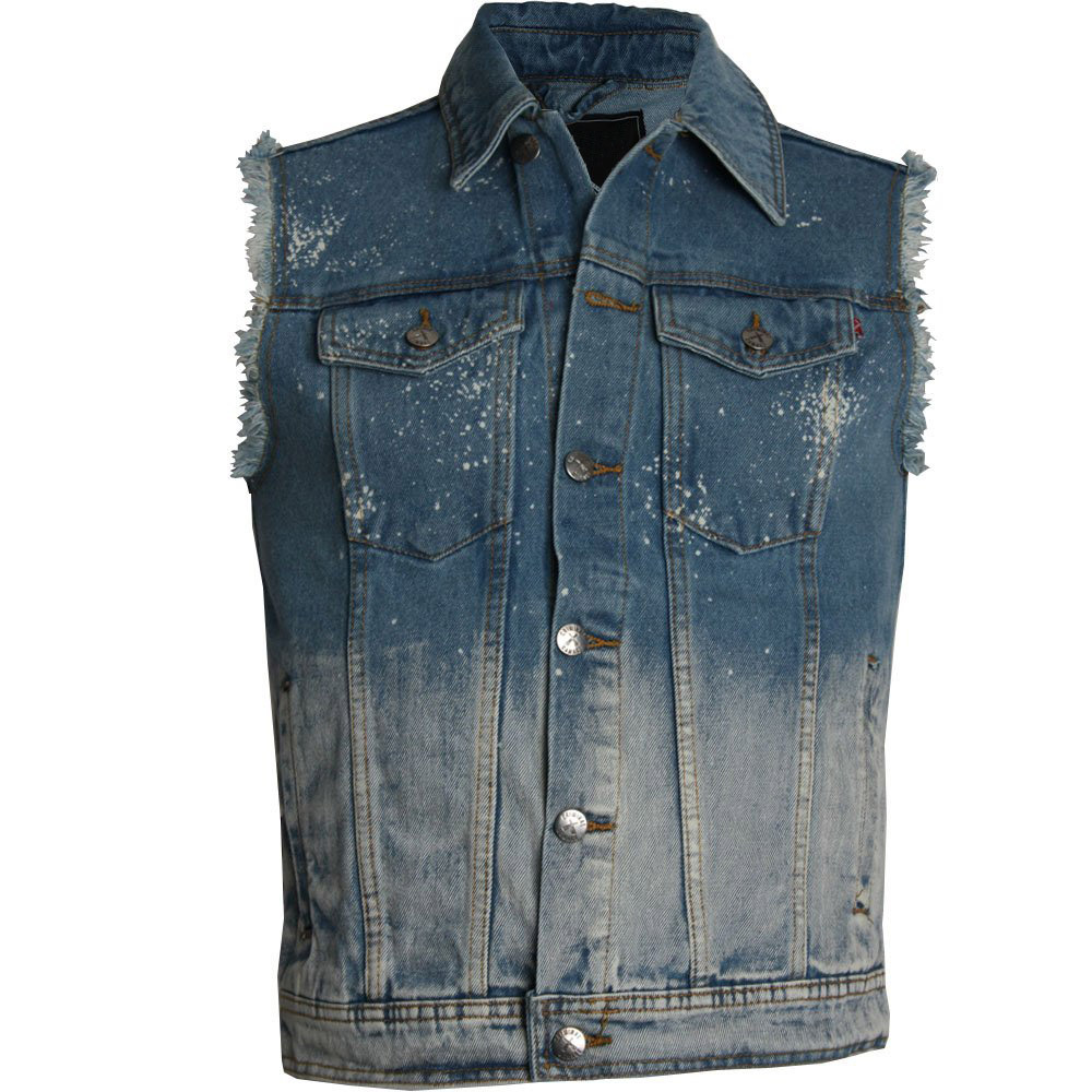 Wholesale No Sleeve Denim Jacket Men Buy No Sleeve Denim