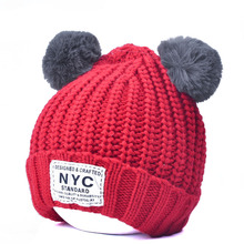 2017new design high quality 100% acylic plain red winter knitted hat/ beanie wholesale