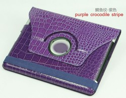 360 degree rotation PU synthetic leather with holder for ipad 4 back cover housing replacement 4