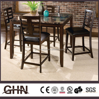 Personalized design brown restaurant dining marble tables and chairs
