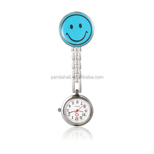 PandaHall Gifts for Medical Students Smile Face Clip Nurse Watch China Wholesale(WACH-N007-03F)