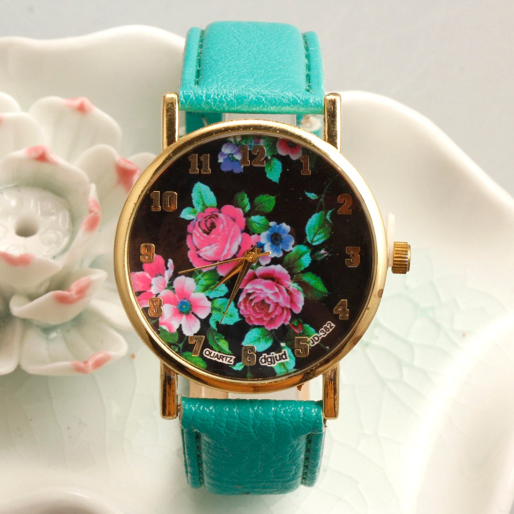 2017 high kitty detachable strap optional colors geneva rose gold women watch