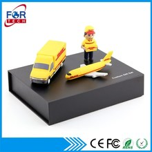 Merry Xmas DHL Gifts Package China Business Giveaways Set with Your Corporate Logos, Imprinted Powerbanks & USB Flashdrive