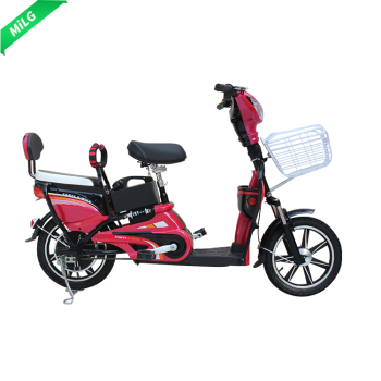 hot wholesale 350W two seats pedal assist electric bike with basket