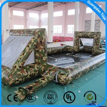GUANGQIAN Military Camouflage Inflatable Soap Soccer Field