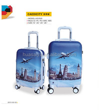 leisure international printed hard luggage trolley sale