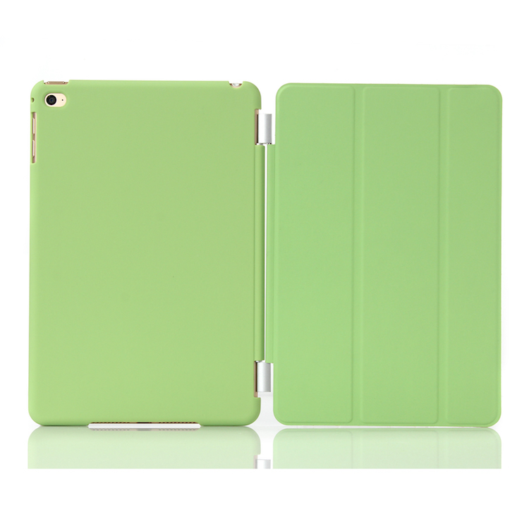 Smart Slim Shell Standing Cover with Solid Frosted Back Protector Supports Auto Wake / Sleep for Apple <strong>iPad</strong>