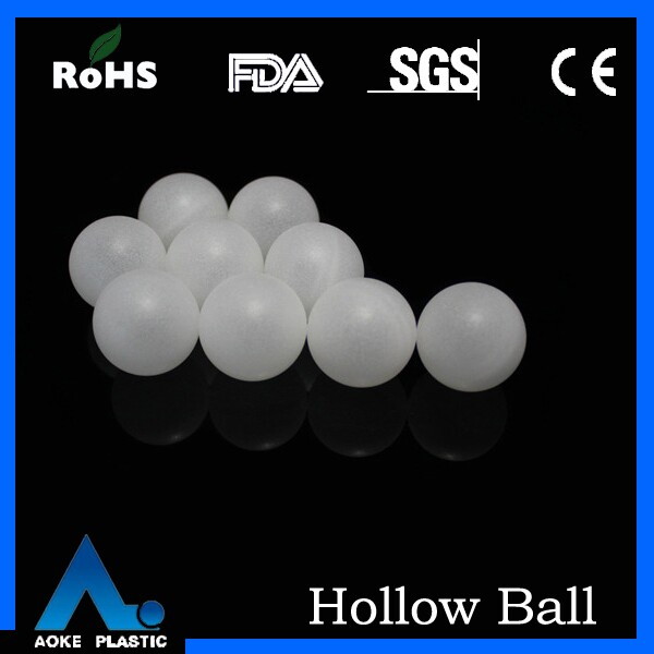46mm hollow plastic balls for roll on ball