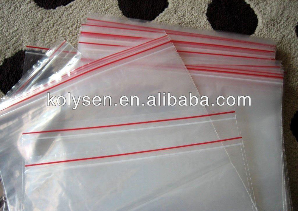 resealing clear PE zip lock bag durable for packing China