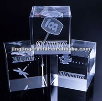 Crystal crafts engraving for gifts crystal glass cube