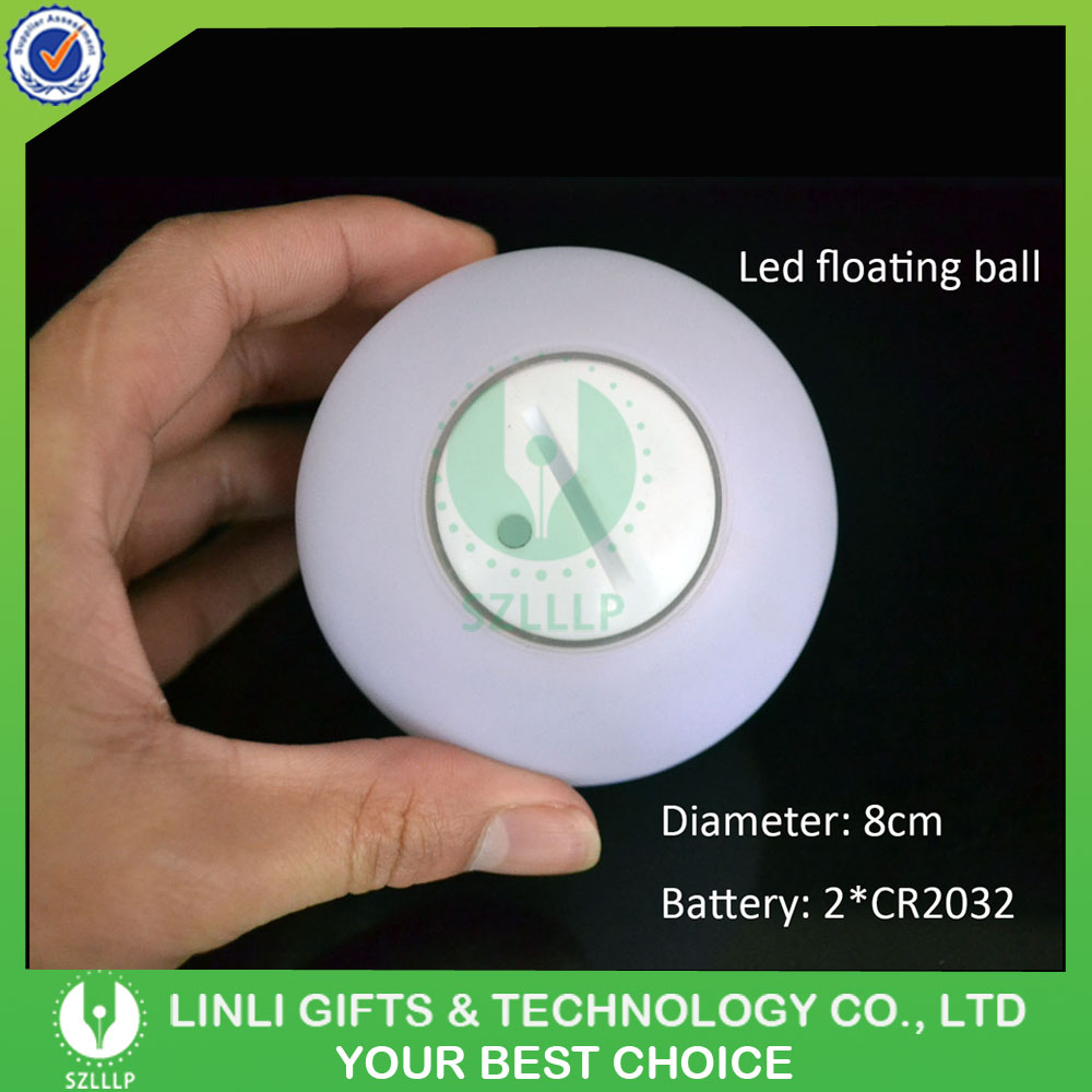 Hot Selling Plastic Color Chaning Led Flashing Floating Ball