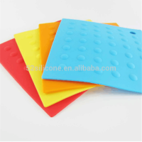 Silicone Rubber Hot Pads / Pot Holder/ Trivet Mat -- Durable/ Placemat Heat Resistant Kitchen Utensils