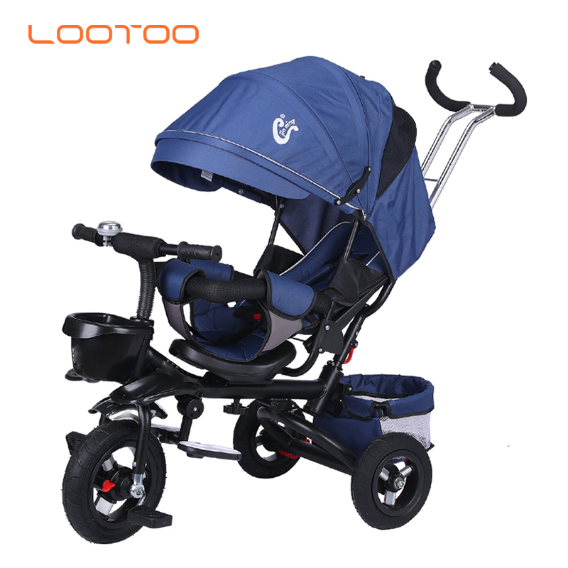 2020 cheap price high quality baby products easy foldable 4 in 1 3 wheeler bicycle bike pram stroller tricycle kids