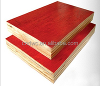 Red phenolic film faced plywood