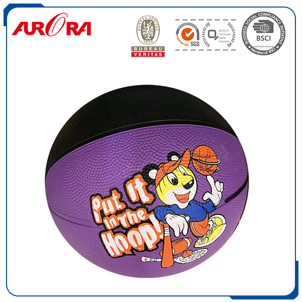 New style hot sell made in China good quality customized logo official size orange rubber basketball