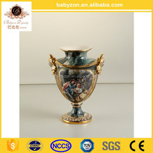 Luxury wholesale large chinese ceramic blue and white flower vase