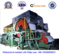 pine wood pulp making line, 1575mm 3-4ton/day 150m/min high speed tissue paper machine, wheat straw as raw material