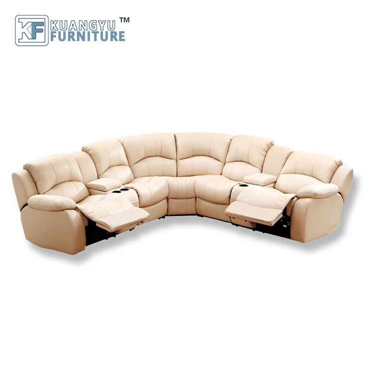 Corner Recliner Fabric Sofa Set, Leather Sofa with recliner, Sectional Corner Sofa