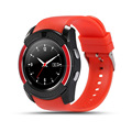 2017 smart watch V8,round smart watch with SIM card